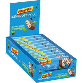 PowerBar ProteinPlus 52% Riegel Box Chocolate Mint 20 x 50g